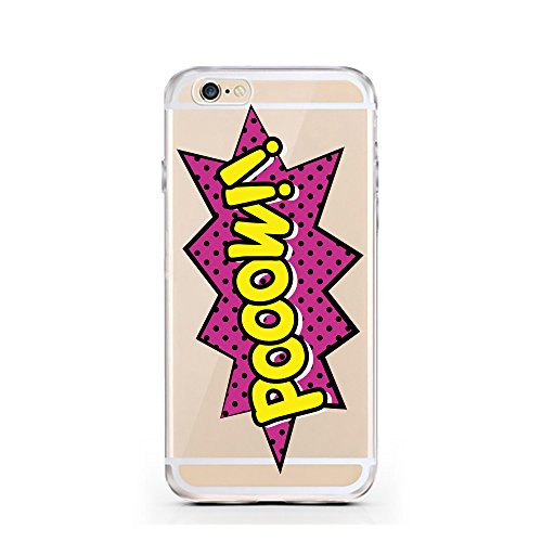"licaso® iPhone 6 6S 4,7"" TPU Hülle Sketch Case transparent klare Schutzhülle Hülle iphone6 Tasche Cover (iPhone 6 6S 4,7"", Burger) Pooow!"