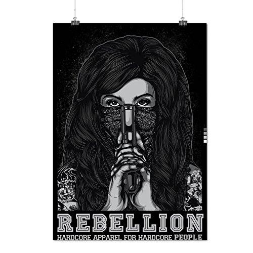 Rebellion Mädchen Gangster Kleider Mädchen Mattes/Glänzende Plakat A3 (42cm x 30cm) | Wellcoda