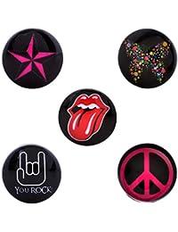 Morella Click-Button Set señorías 5 pcs pulsadores Rock Your Life