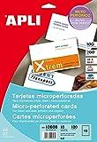 APLI 10608 - Tarjeta visita microperforada 200g 10 hojas