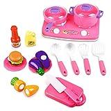 Peradix Accesorios de Cocina de Juguete Set de Juguete Multicolor Apto para Niños de 3 Años y Más...