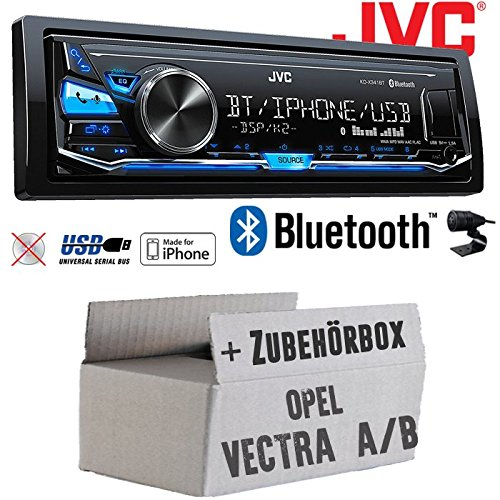 Opel Vectra A+B - JVC KD-X341BT - Bluetooth | MP3 | USB | Android | iPhone Autoradio - Einbauset