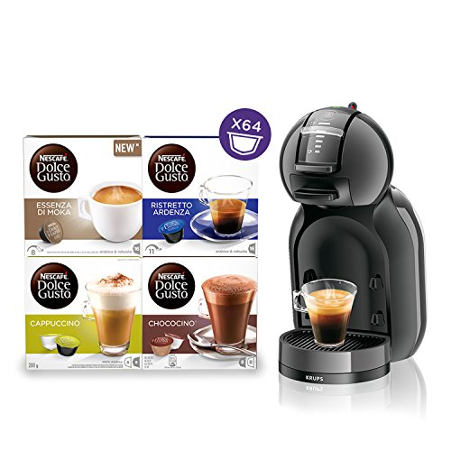 NESCAFÉ DOLCE GUSTO MINI ME KP1208 con 64 capsule in omaggio Macchina per Caffè Espresso e altre bevande automatica antracite Krups