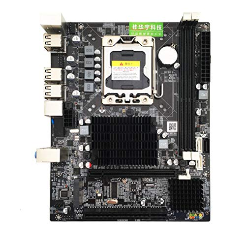 Noradtjcca Desktop Motherboard Computer Mainboard für X58 LGA 1366 DDR3 16GB Unterstützung ECC RAM Für Quad-Core-Sechs-Core-Nadel 8PIN