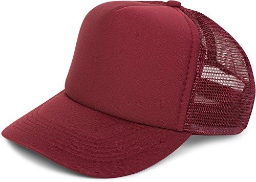 styleBREAKER 5 Panel Mesh Cap, Trucker Baseball Cap, Basecap, verstellbar, Unisex 04023007, Farbe:Weinrot