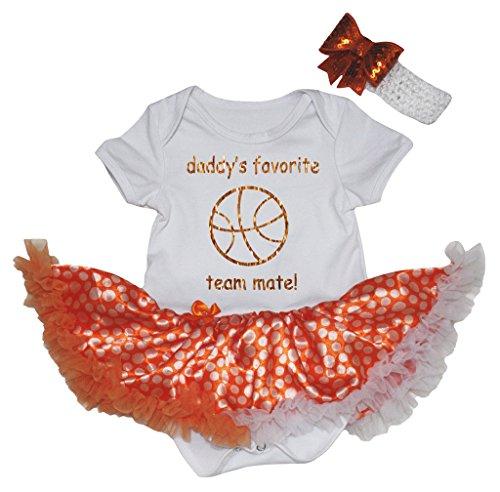 Petitebelle Baby Mädchen (0-24 Monate) Body orange Orange Gr. S, Orange Favorite Short-sleeve Bodysuit