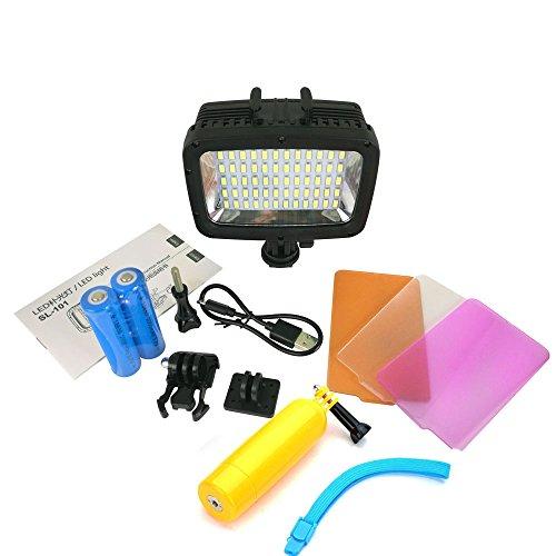 Orsda wasserdichte unter wasser tauchen led - flash lichtflecke lampe für gopro held 4 held 4 sitzung 3 + 3 sjcam yi kamera 40 meter unter wasser (60led+bar)