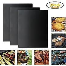 Tappetini per barbecue BBQ Pads–Mingtong griglia antiaderente foglio Heavy-Duty Cooking tappetini tappetino da forno riutilizzabile, spessi e facile da pulire, approvato FDA, senza PFOA, Best grill accessori per gas, carbone, griglia elettrica e più, dimensioni 40x 33cm