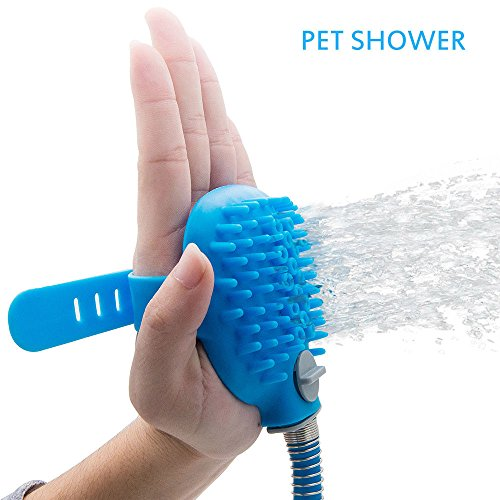 Pet Bathing Tool for Dog, Multi-Functional Handheld Shower Sprayer with Massager Grooming Scrubber Brush for Pet Washing Cleaner