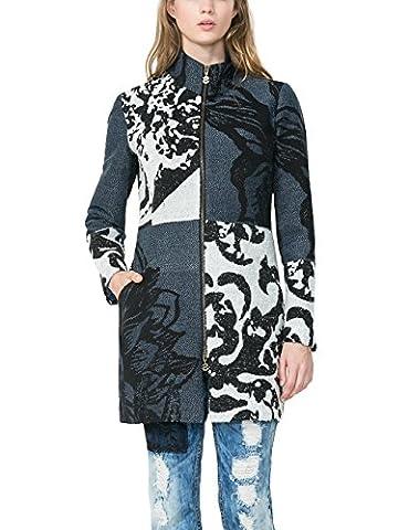 Desigual Damen Mantel ABRIG_MEREDITH, Blau (NAVY 5000), Gr. 40 (Herstellergröße: 42)