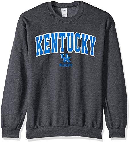 Elite Fan Shop NCAA Men's Kentucky Wildcats Crewneck Sweatshirt Dark Heather Arch Kentucky Wildcats Dark Heather Small - Pullover Uk Wildcats