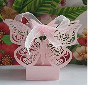 New Arrival 50PS laser Cut Wedding Candy Box Favor Gifts #2: 51TUj9YiPAL SX300 QL70