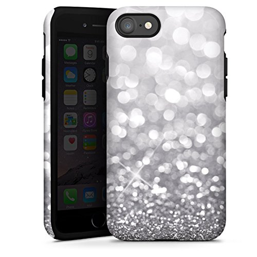 apple-iphone-7-outdoor-hulle-tough-case-cover-silber-glitzer-glitter