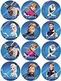 Cakeshop 12 x PRE-TAGLIATE Topper Torte Commestibili Disney Frozen