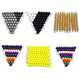Phenovo Montessori Maths Material 1-100 Numbers Count 1-10 Beads Bars Preschool Toys
