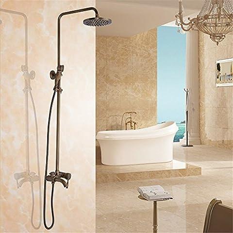 CAC Retrò il bagno completo di doccia, kit bagno montato a parete kit doccia,home bagno, decorazione, semplicità C76