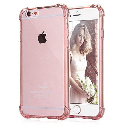 Coque iPhone 6/6s Plus, [Coussin d'air] [4 Coins Shock-Absorption] Pare-chocs Anti-rayures Soft TPU Etui de Protection pour Apple iPhone 6/6s 5.5 Pouces
