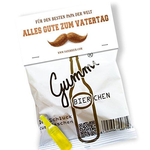 Preisvergleich Produktbild Lustige Gummibierchen (1x150g) Vatertag-Edition von Vaterbier,  Geschenk für Papa,  Vatertag 2018