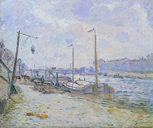 Das Museum Outlet-Die Quay von Henri IV, Paris, 1884-Leinwanddruck Online kaufen (76,2x 101,6cm)