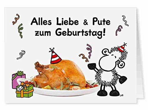 61 - Liebe & Pute - Midi-Grußkarte von Sheepworld