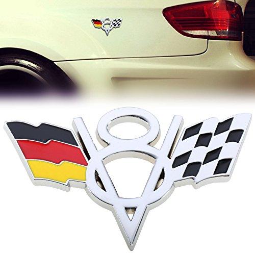 d0260e335bac LB V8 Flag Emblem Badge Sticker Metal Decal For Chevrolet Chevy Corvette  Camaro 2 Pieces V8