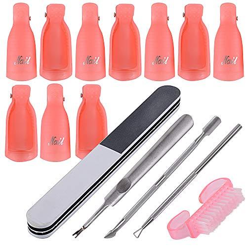 10pcs Clip Uñas Plastico Pinzas Manicura Uñas Gel