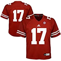 adidas Nebraska Cornhuskers NCAA #17 Youth Replica Red Football Jersey