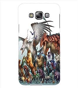 ColourCraft Cartoon Animals Design Back Case Cover for SAMSUNG GALAXY GRAND MAX G720