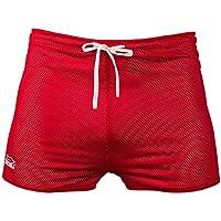 Zaosu Pantalones de resistencia para entrenamiento efectivo en nadar, blanco/rojo, extra-large