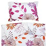 Les Fleurs Coquettes - Pati'Chou 100% Coton Linge de lit pour bébé (Taie d'oreiller et Housse de couette 120x150 cm)