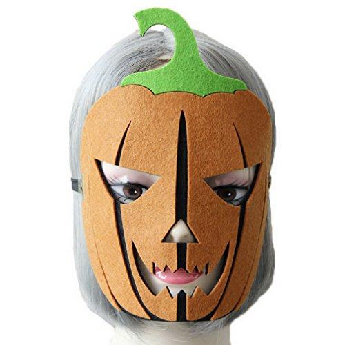 ummilitze Kürbis Muster Cosplay Kostüm Party Gesichtsmaske Mascken Karneval Maske Augenmaske 20*22cm Schwarz (Kürbis-kostüm-muster Für Erwachsene)