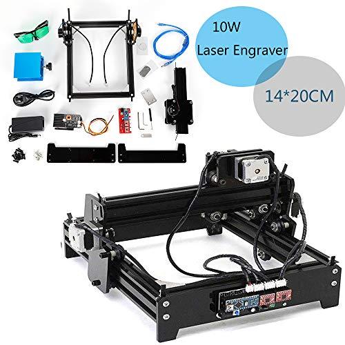 Máquina grabadora de escritorio grabadora láser CNC 1420 Máquina de talla USB Máquina grabadora de bricolaje Grabador 10W