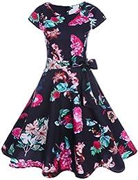 425dffe28b9c beautyjourney Vestito Anni 50 Lungo Donna Cerimonia Vestiti Donna Anni 50  Lungo Estivi Eleganti da Cerimonia Abiti…