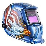 Casco De Soldadura con Energía Solar Capa De Oscurecimiento Automático con Rango De Sombra Ajustable 4/9-13 para Mig TIG Máscara De Soldador por Arco Águila Azul Diseño