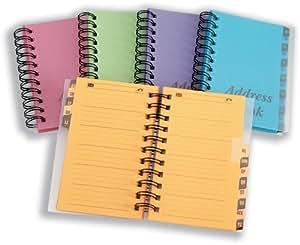 Concord Telephone Address Book Wirebound 13 Part A-Z Bright Assorted Ref CV60199