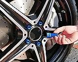 Foliatec 37201 LugNuzzCover 20er Set, Schlüsselweite, Blau Eloxiert, 17 mm