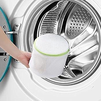 Comsun Wäschenetze Set, Premium Wäschebeutel, Wäschesack, Wäschetasche Mit Reißverschluss, Ideal Für Für Waschmaschine, Wiederverwendbar (Weiß) 3