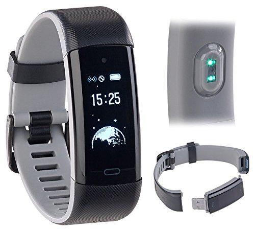 Newgen Medicals Smartwatch: Premium-GPS-Fitness-Armband, XL-Touchdisplay, Puls, 18 Sportarten (Fitnessarmband Schwimmen)
