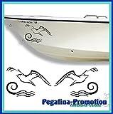 2x fliegende Möwe über den Wellen ca. je 15 cm Aufkleber aus Hochleistungsfolie - viele Farben zur...