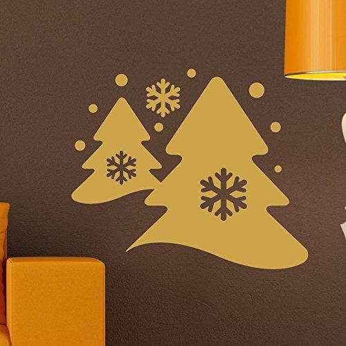 Ambiance-Live Wandtattoo Kiefern und Schnee - 65 x 35 cm, Silber (Kiefern-aufkleber)