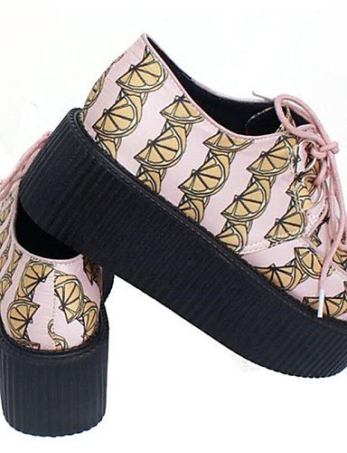 ZQ Scarpe Donna - Stringate - Casual - Creepers / Punta arrotondata - Plateau - Seta - Rosa , peach-us8 / eu39 / uk6 / cn39 , peach-us8 / eu39 / uk6 / cn39 peach-us7.5 / eu38 / uk5.5 / cn38