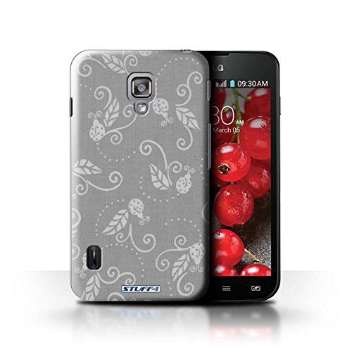 Kobalt® Imprimé Etui / Coque pour LG Optimus L7 II Dual / Bleu conception / Série Motif Coccinelle Gris