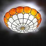 Tiffany 40,6cm Moderne minimalistischen Fashion Creative Schlafzimmer Deckenleuchte Gang Balkon Mediterraner LED Lampen Wohnzimmer Leuchten Tiffany orange