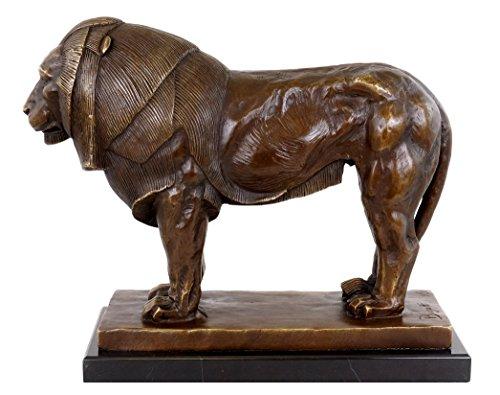 Kunst & Ambiente - Tierbronze - Stolzer Bronze Löwe - Modern Art - Rembrandt Bugatti Bronzefigur - Tierfiguren - Löwenskulptur