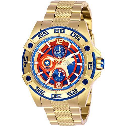 Invicta Women's Marvel Gold-Tone Steel Bracelet & Case Quartz Watch 27019