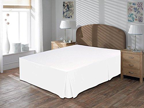 Tour de lit 100% coton égyptien 40,6 cm de hauteur, blanc, Euro King IKEA