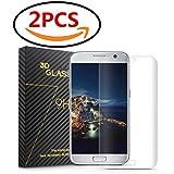 Demarkt ❤️Verre Trempé écran Pour Samsung Galaxy S7 Edge Anti-rayures Durable écran Protecteur Anti-traces De Doigts Verre Trempé Protection TransparentB 2 PC ❤️❤️