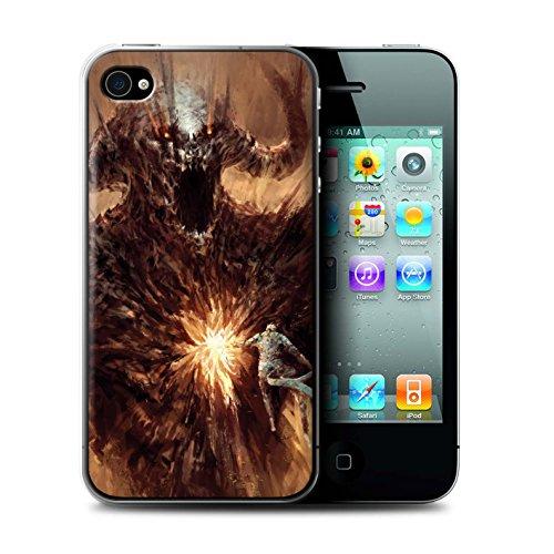 Offiziell Chris Cold Hülle / Case für Apple iPhone 4/4S / Ungeheuer/Troll Muster / Wilden Kreaturen Kollektion Herzensucher