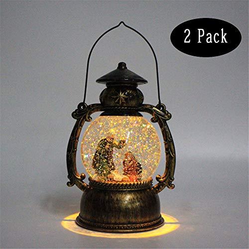 Zee-Hr Jesus Geburt Resin Manager Pferd Licht Nachtlicht Dreiköpfige Familie Pferd Licht Spieluhr Beleuchtet Weihnachten Christus Dekoration Geschenk Statue