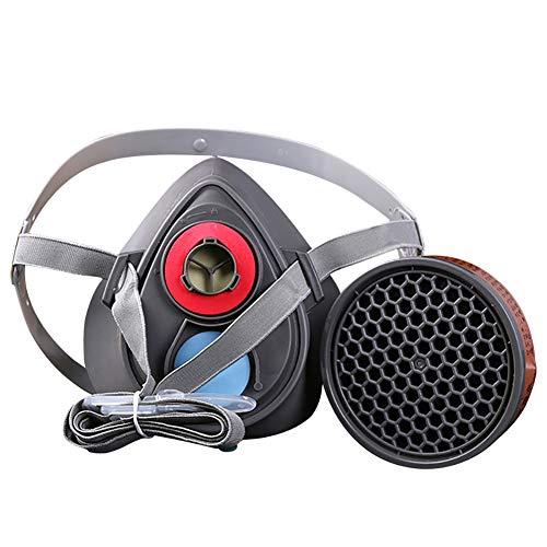Dämpfe Atemschutzmaske Patrone (BONNIO Halbmaske Gesichtsmaske Industriegas Chemische Antistaubfarbe Pestizid Atemgasmaske)
